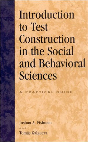 Introduction to Test Construction in the Social and Behavioral Sciences A Practical Guide  2003 edition cover