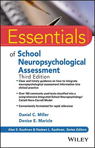 Essentials of School Neuropsychological Assessment  3rd 2019 9781119533207 Front Cover