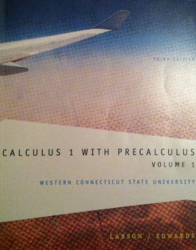 CALCULUS 1 W/PRECALC.:VOL.1 >CUSTOM<    N/A 9781285102207 Front Cover