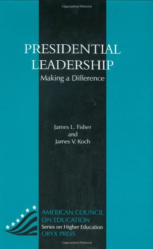 Presidential Leadership Making a Difference  1996 edition cover