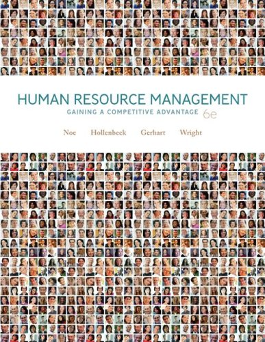 Human Resource Management Gaining a Competitive Advantage 6th 2008 edition cover