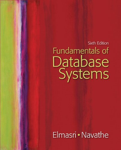 Fundamentals of Database Systems  6th 2011 edition cover