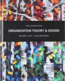 Organization Theory and Design  3rd 2014 9780176532208 Front Cover