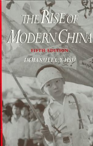 Rise of Modern China  5th 1995 (Revised) edition cover