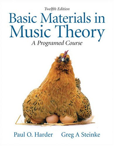 Basic Materials in Music Theory A Programmed Approach 12th 2010 edition cover