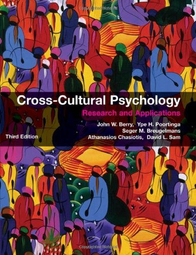 Cross-Cultural Psychology Research and Applications 3rd 2011 (Revised) edition cover