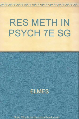 Res Meth in Psych 7e Sg 7th 2003 9780534558208 Front Cover