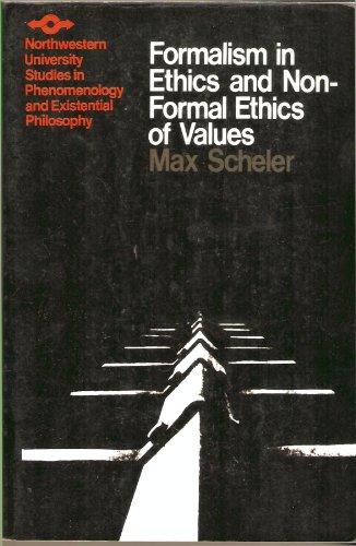 Formalismus der Ethik und die Materiale Wertethik  5th 1973 edition cover