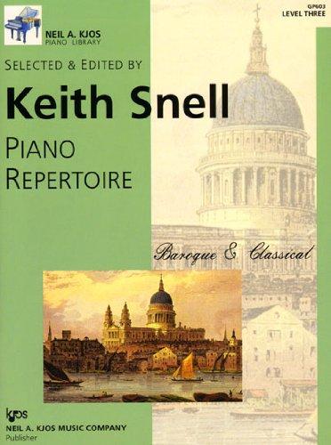 PIANO REPETOIRE:BAROQUE+CLASSI N/A 9780849762208 Front Cover