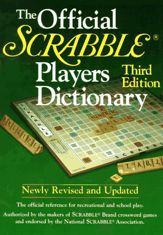 Official Scrabble Players Dictionary  3rd 1995 (Revised) 9780877792208 Front Cover