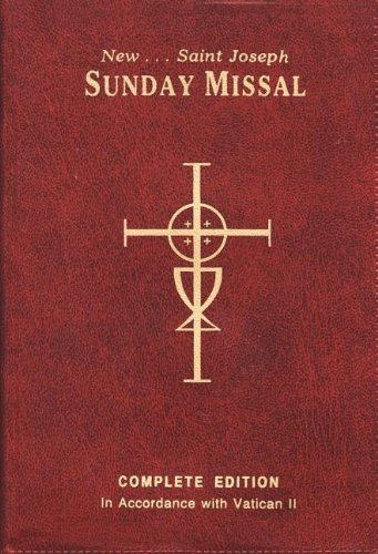 New Saint Joseph Sunday Missal and Hymnal  N/A 9780899428208 Front Cover