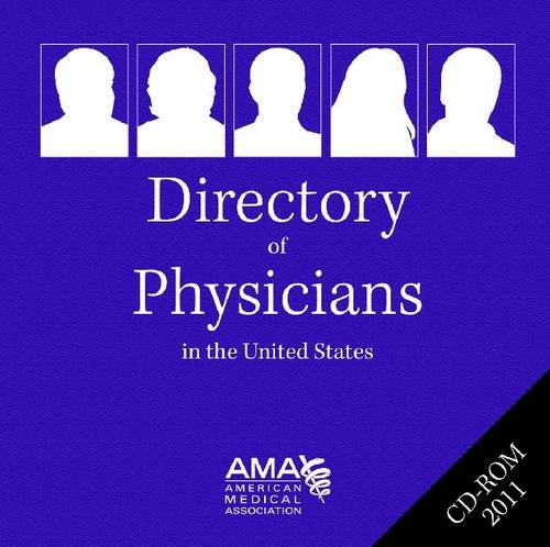 Directory of Physicians in the United States 2011: Single User  2010 edition cover