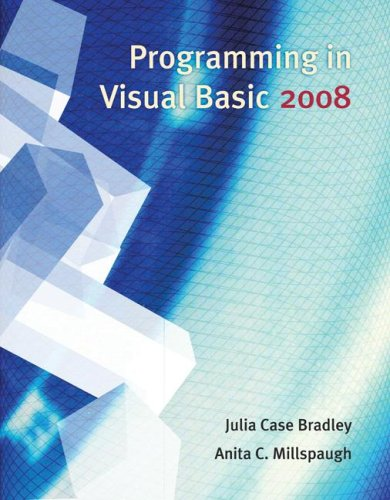 Programming in Visual Basic 2008  7th 2009 edition cover