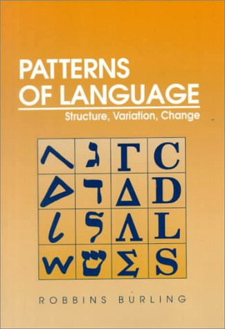 Patterns of Language Structure, Variation, Change  1992 edition cover