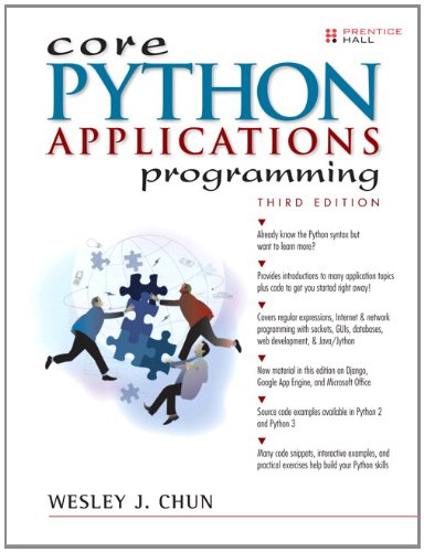 Core Python Applications Programming  3rd 2012 (Revised) edition cover