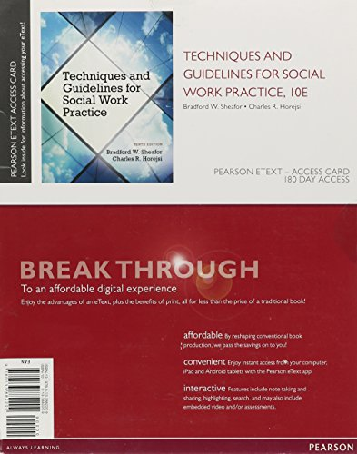Techniques and Guidelines for Social Work Practice, Pearson EText -- Access Card  10th 2015 edition cover