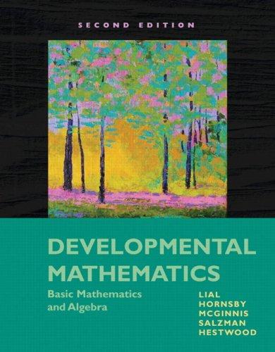 Developmental Mathematics Basic Mathematics and Algebra 2nd 2010 edition cover