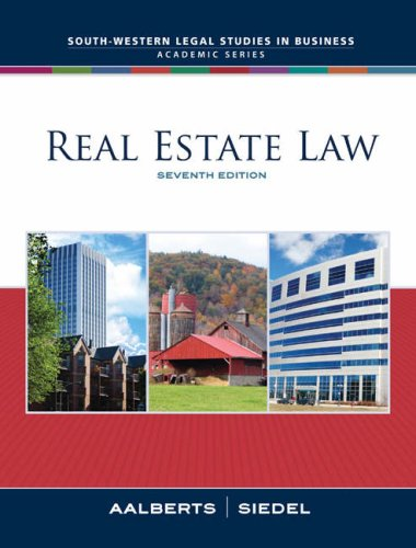 Real Estate Law  7th 2009 edition cover