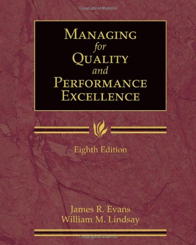 Managing for Quality and Performance Excellence (with Student Web)  8th 2011 edition cover