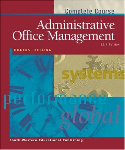 Administrative Office Management  12th 2000 9780538722209 Front Cover