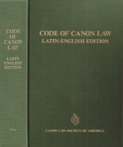 Code of Canon Law : Latin-English Edition N/A 9780943616209 Front Cover