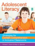Adolescent Literacy Strategies for Content Comprehension in Inclusive Classrooms  2013 edition cover