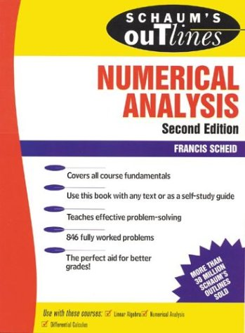 Schaum's Outline of Numerical Analysis  2nd 1989 (Revised) 9780070552210 Front Cover