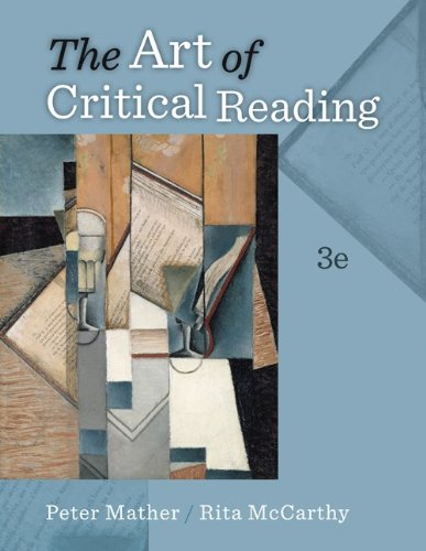 Art of Critical Reading  3rd 2012 edition cover