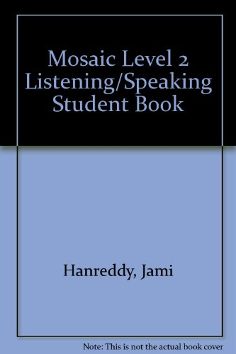 Mosaic Listening/Speaking, Level 2  6th 2014 edition cover