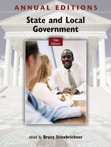 State and Local Government  15th 2012 9780078051210 Front Cover