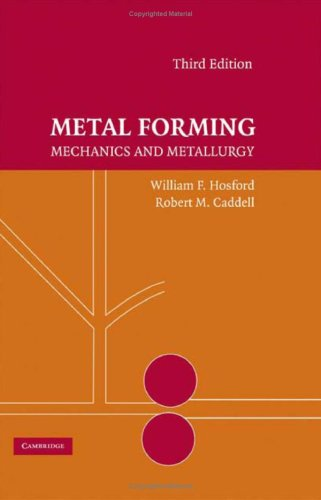 Metal Forming Mechanics and Metallurgy 3rd 2007 (Revised) 9780521881210 Front Cover