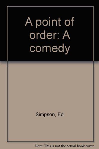 Point of Order : A Comedy  1998 9780573626210 Front Cover