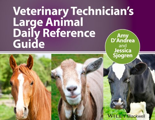 Veterinary Technician's Large Animal Daily Reference Guide   2013 edition cover