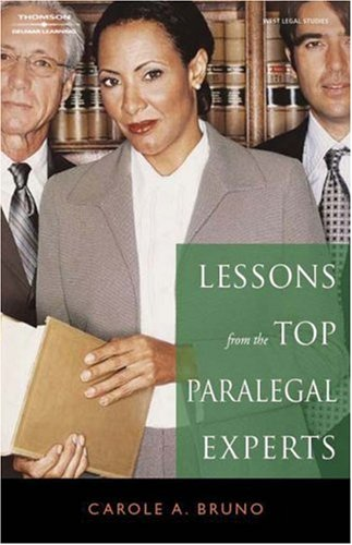 Lessons from the Top Paralegal Experts   2008 edition cover