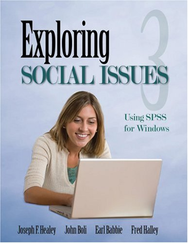 Exploring Social Issues Using SPSS for Windows 3rd 2010 edition cover