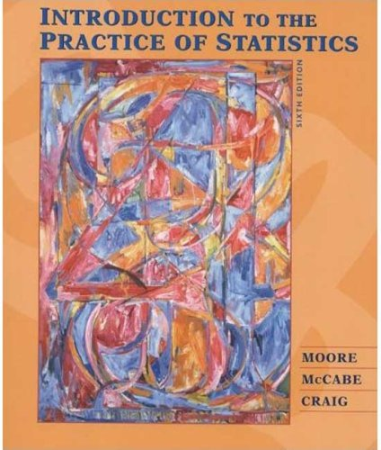 Introduction to the Practice of Statistics, Standard (Paper) and CD-ROM  6th 2009 edition cover