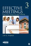 Effective Meetings Improving Group Decision Making 3rd 2014 edition cover