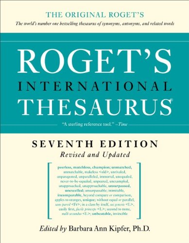 Roget's International Thesaurus  7th (Revised) edition cover