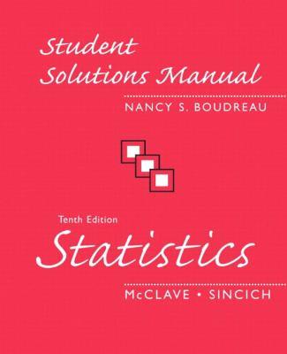 STATISTICS-STUD.SOLN.MAN. 10th 2006 edition cover