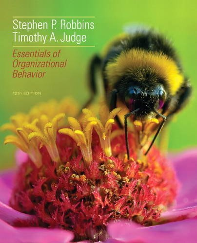 Esentials of Organizational Behavior  12th 2014 edition cover