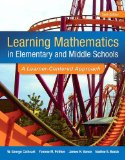 Learning Mathematics in Elementary and Middle School: A Learner-Centered Approach  2015 edition cover