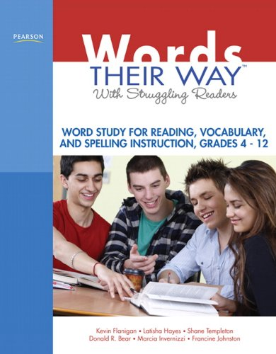 Words Their Way with Struggling Readers Word Study for Reading, Vocabulary, and Spelling Instruction, Grades 4 - 12  2011 edition cover
