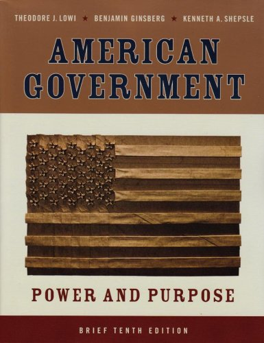 American Government Power and Purpose 10th 2008 edition cover