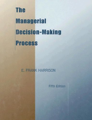 Managerial Decision-Making Process  5th 1999 edition cover