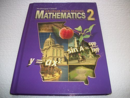 Mathematics 2 Grades 9-12: McDougal Littell High School Math Georgia 1st 2007 9780618920211 Front Cover
