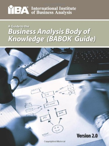 Guide to the Business Analysis Body of Knowledger   2013 edition cover