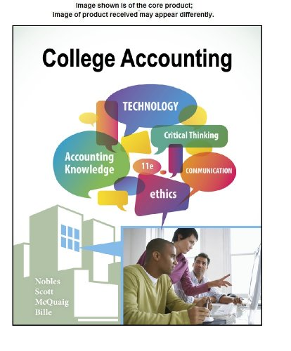 Working Papers Study Guide, Chapters 1-12 for Nobles/Scott/McQuaig/Bille's College Accounting, 11th  11th 2013 edition cover