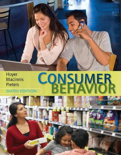 Consumer Behavior  6th 2013 9781133435211 Front Cover