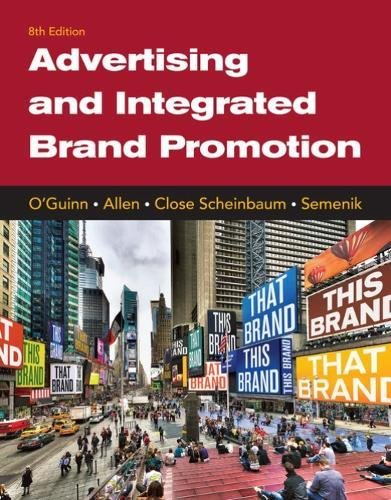 Advertising and Integrated Brand Promotion:   2018 9781337110211 Front Cover