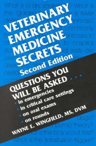 Veterinary Emergency Medicine Secrets  2nd 2001 (Revised) edition cover